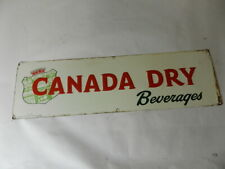 VINTAGE ADVERTISING SIGN- 1948 CANADA DRY BEVERAGES SIGN- VINTAGE DRIVE-IN