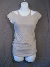 *Rare Lip Service dmg Straps of Mercy Anaconda Grey Layered Strap Tank Top S