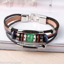 Hook & Eye Leather Costume Bracelets