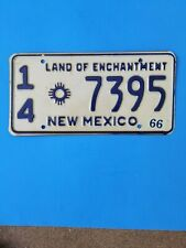 1966 New Mexico license plate, Valencia county, 7395