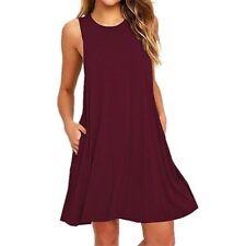 Summer Women's Sleeveless Tunic Top T Shirt Blouse Vest Dress Plus Size S-2XL