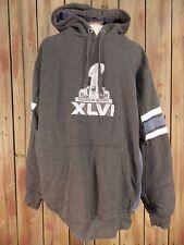 SUPER BOWL XLVI HOODIE NFL TEAM Gray Men's Hoodie Size XL VTG