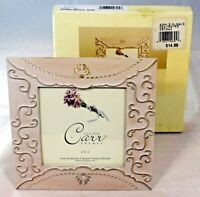"""Burnes of Boston - Carr Frames - Giverny Metals - Rose Picture Frame 4"""" x 4"""""""