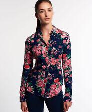Neues Damen Superdry Printed Calamity Hemdbluse Eclipse Floral