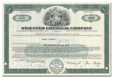 Stauffer Chemical Company Bond Certificate