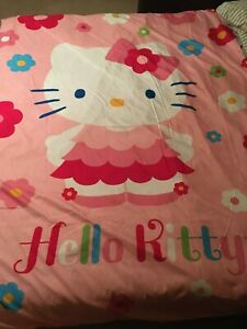 Hello Kitty Fabric, Comforter Cover Shell Girl Bedding Bedroom Reversible Twin