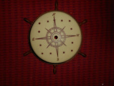 Art Deco Custard Glass Ceiling Shade Light Fixture Compass Boats w/ Ships Wheel