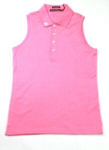 Ralph Lauren Golf Polo Shirt Sleeveless Pink Womens Extra Small XS Tailored Fit