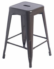 "New 24"" High Industrial Vintage Metal Kitchen Counter Height Indoor Bar Stool"