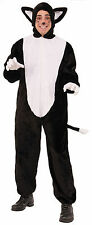 Adult Black Cat Plush Costume Animal Kitty Jumpsuit Adult Size Standard