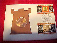 1971 #212 99 COMPANY GUERNSEY 2 NEW PENCE FIRST DAY FIRST ISSUE BRONZE