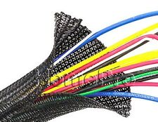 1/4 x 10 SLIT BRAIDED SLEEVING WIRE HARNESS COVERING LOOM WRAP WOVEN SLEEVE