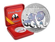 10 Yuan Argento Cina Panda 2010 Holographics Edizione Nella Scatola + Coa