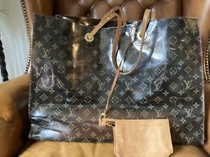 Louis Vuitton  Monogram Perspex Large Beach/Tote Bag With Leather Shoulder Strap