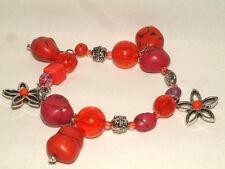 Fashion Bracelet, Osfm, New! #1551 Gorgeous Mixed Bead/Charm Stretch
