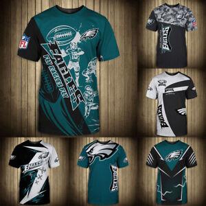 Philadelphia Eagles Men Soft T-shirt Short Sleeve Top Tee Comfy Sportswear S-5XL
