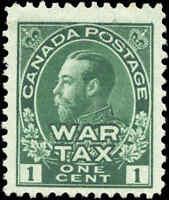 1915 Mint Canada F+ Scott #MR1 1c War Tax Issue Stamp No Gum