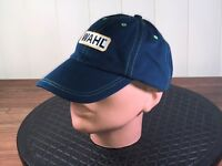 WAHL Low Profile Mens Cap Buckle Strapback Blue Cotton Barely Structured Dad Hat