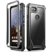 Poetic For Google Pixel 3a Case,Clear Back Shockproof Protective Cover Black