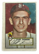 1952 Topps Baseball Card • Cliff Fannin • #120