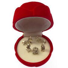 Pocket crib nativity scene in a red velvet rose gift box small 6cm Christian