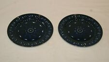 More details for 2 arabia finland 17cm side plates cobalt blue valencia ulla procope.