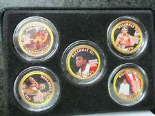 Muhammad Ali Colorized Quarter 5 State Quarters Coins 5 Pc. Set