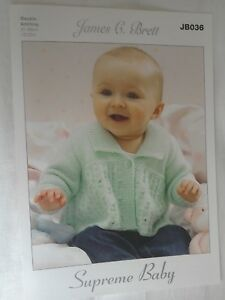 Child's cardigans,Hat and scarf size 12-22 knitting pattern number JB036
