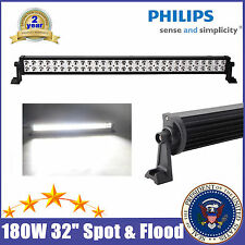 """PHILIPS 32"""" INCH 180W LED LIGHT BAR SPOT FLOOD OFFROAD DRIVING LAMP TRUCK CAR US"""