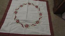 35 x 35 Christmas Poinsetta Tablecloth