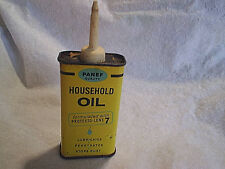 PANEF QUALITY HOUSEHOLD OIL CAN EMPTY,Vintage,old,yellow,milwaukee wisconsin,wi