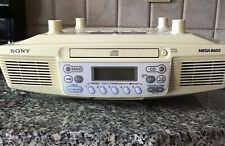 Sony Kitchen Clock Radio Cd Player. Under Cabinet Icf-Cd533 With Hardware