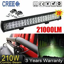 20inch 210W CREE LED Light Bar Spot Flood Combo Off road Driving Work 12V 24V