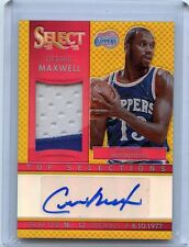 """2013-14 SELECT #2 CEDRIC MAXWELL AUTOGRAPH PATCH """"GOLD REFRACTOR"""" #6/10 CLIPPERS"""