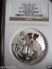 Fiji 2013 Jack Russel Terrier NGC PR70 Ultra Cameo silver coin 1 troy oz bullion