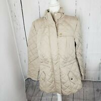 New Charter Club Quilted Zip Front Women's Jacket Coat Plus Size 1X Beige NWT