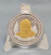 Winston Churchill Gold & Silver Coin British Flag World War II Blitz Big Ben I