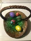 Vintage Ceramic Easter Basket & Eggs