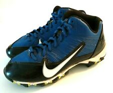 Nike Boys Youth Alpha Shark Baseball Cleats Sz 2.5Y Blue Black White Sport