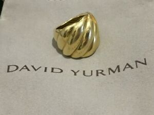 David Yurman 18kt Yellow Gold Ring 19 grams