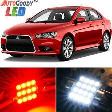 8 x Premium Red LED Lights Interior Package Kit for Mitsubishi Lancer 2007-2017