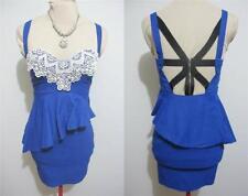 Lace Peplum Short Sleeve Dresses for Women