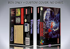 TERRANIGMA. PAL FORMAT. Box/Case. Super Nintendo. BOX + COVER. (NO GAME).