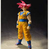 PVC S.H.F Dragon Ball Z Red Super Saiyan Red Hair Goku Action Figure Model Toys