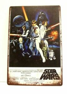 New Star Wars Movie Tin Metal Poster Sign Man Cave Vintage Look Retro Style