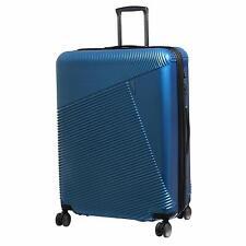 IT Luggage Metamorphic Metalik 8 Wheel Hard Expand 69cm Medium Glass Blue