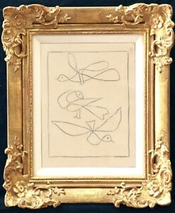 Pablo Picasso Drawing Modernist French Spanish Birds Flock Abstract