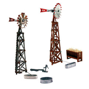 Woodland Scenics N Scale Pre-Fab Building/Structure Kit Windmills (2 Pack)