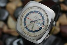 Vintage WITTNAUER Alarm AD13A Automatic High Beat Stainless Steel Watch