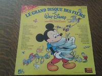 album 2 33 tours le grand disque des film de walt disney presente par michel dru